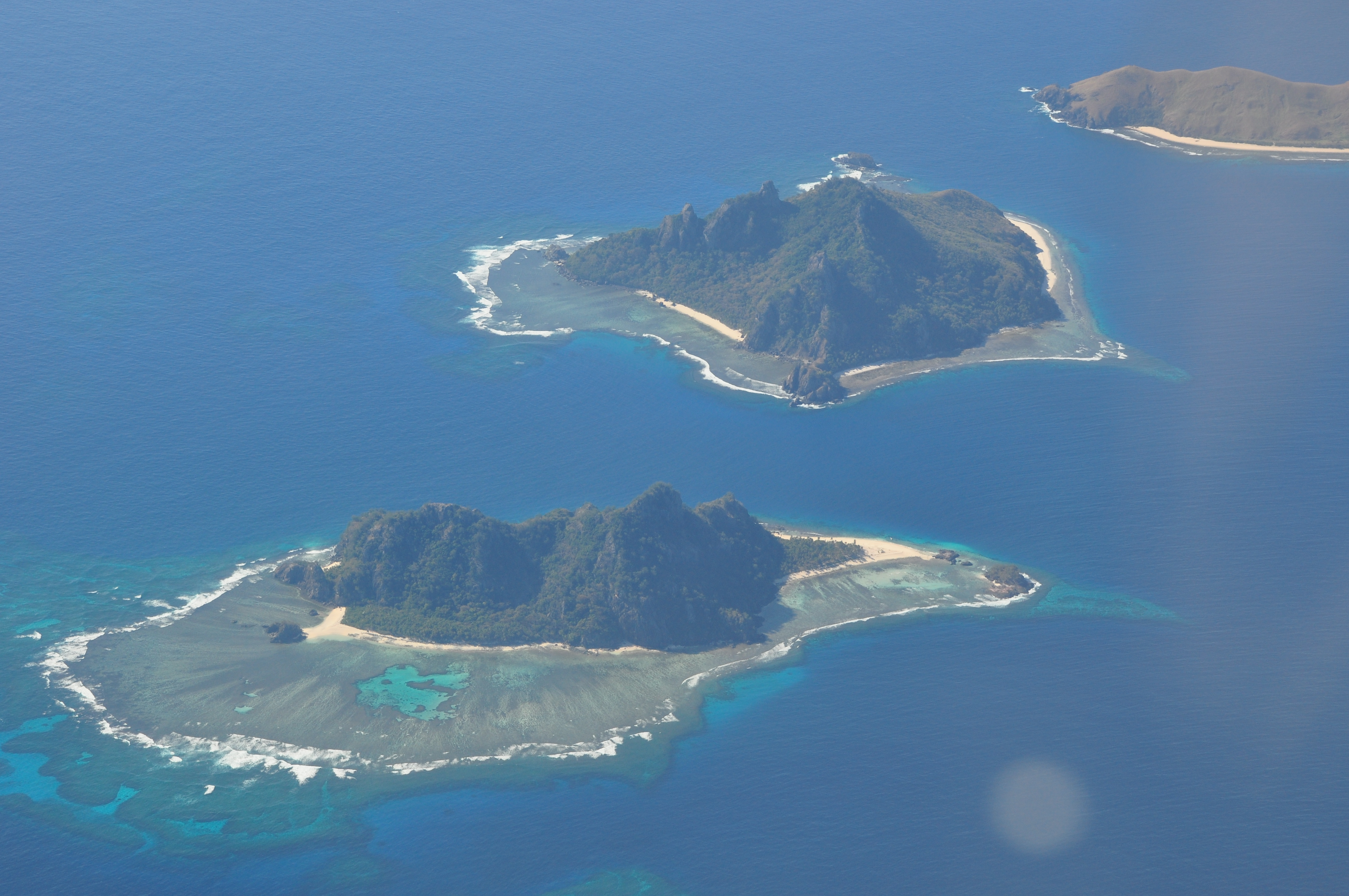 Aerial picture of Kiribati